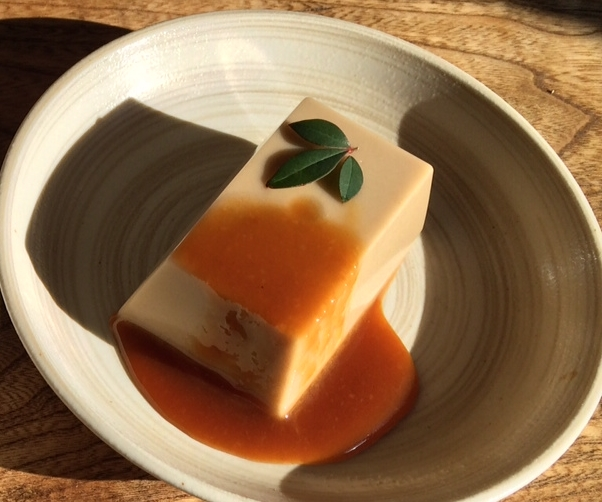 White sesame tofu
