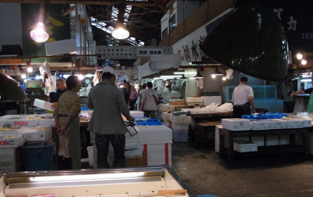 Tsukiji, the biggest fish market in the world