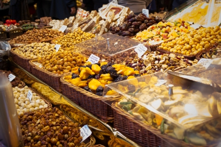 Nuts and dried figs.