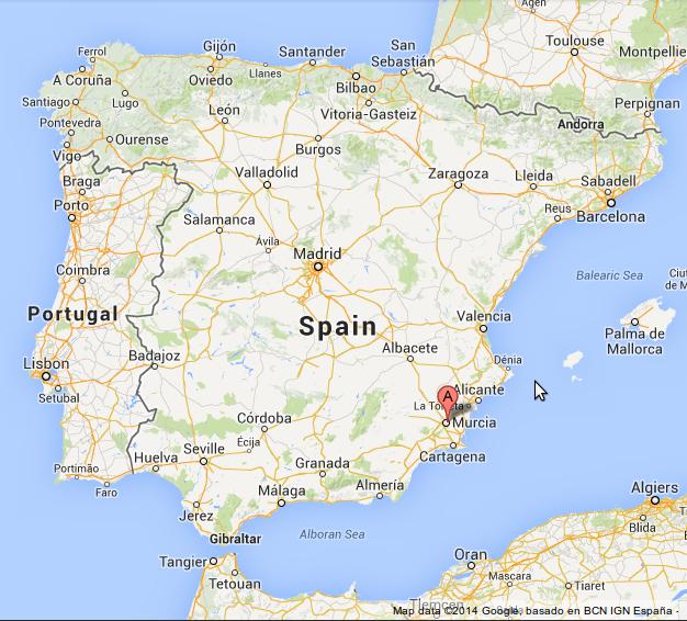 Murciaの地図